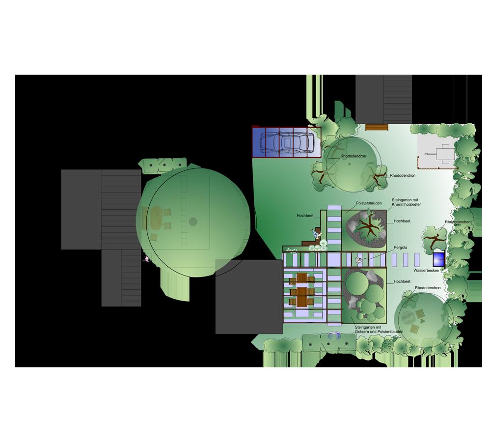 gartenplan modern – greengrill, Garten ideen